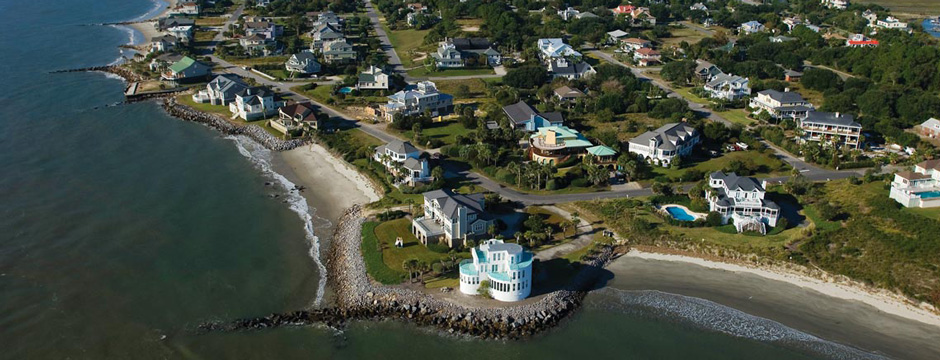 Sullivan's Island aerial beach photo